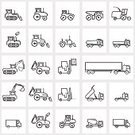 Car,Internet,Ilustration,Design,Group of Objects,Construction Industry,Set,Wheel,Shape,Computer Icon,Icon Set,Transportation,Vector,Travel,Web Page