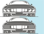 Drag Racing,Car,Ford,Line Art,Front View,Dodge,Chrysler,Hot Rod,Stencil,Muscle Car,Collector's Car,Transportation