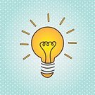 Design,Vector,Computer Graphic,Symbol,Glass - Material,Drawing - Activity,Ideas,Spotted,Ilustration,Light Bulb