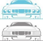 Drag Racing,Car,Line Art,Muscle Car,Hot Rod,Sports Car,Roadster,Front View,Stencil,Collector's Car,Transportation