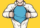 Superhero,Backgrounds,Comic Book,Shirt,Chest,Heroes,Cartoon,Painted Image,Sign,Insignia,Humor,Vector,Book,Below,Businessman,Characters,Blue,Ilustration,Computer Graphic,Disguise,Super - Film Title,Collar,Torso,Ideas,One Person,Hiding,Concepts,Business,Caricature,Yellow,T-Shirt,Book Cover,Design,Opening,Leadership,White,Symbol,Tearing,Mask,Men