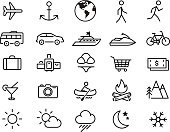 Symbol,Computer Icon,In A Row,Nautical Vessel,Icon Set,Car,Vacations,Thin,Mountain,Suitcase,Passenger Ship,Fire - Natural Phenomenon,Nature,Currency,Road Trip,Anchor,Luggage,Bus,Clothing,Tourism,Swimwear,Camera - Photographic Equipment,Jet Boat,Drink,Paper Currency,Travel,Forest,Air Vehicle