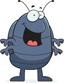 Smiling,Standing,Vector,Sow Bug,Pest,Ilustration,Insect,Cartoon,Cheerful,Happiness,Animal