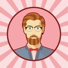 Men,Mustache,Hairstyle,Human Face,Clip Art,Male Beauty,Little Boys,Human Head,Style,Ilustration,Vector,Shoulder,Beautiful,Whisker,Portrait,Young Adult,Flat,One Person,Avatar,Adult,Beard,Eyeglasses,Hipster,Earring