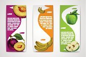 template,Marketing,Food And Drink,Freshness,Environment,Sweet Food,Cafe,Ripe,Banner,Ribbon,Design Element,Variation,Vegetarian Food,Organic,Environmental Conservation,Bookmark,Collection,Set,Vector,Plum,Peel,Eat,Meat,Vitamin Pill,Business,Food,Healthy Eating,Gourmet,Menu,Nature,Juicy,Vegan Food,Design,Quality Control,Sale,Brochure,Yellow,Clean,Apple - Fruit,Ilustration,Vertical,Fruit,Isolated,Green Color,Banana,Dieting,Purple,Dessert,Ornate
