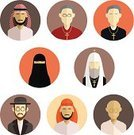 Symbol,Islam,Christianity,Judaism,People,Church,Computer,Cultures,Praying,Hinduism,Crucifix,Vector,Ilustration,Image,Men,Catholicism,Clothing,countries,Ethnicity,Miracle,Bible