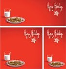 Cookie,Christmas,Milk,Plate,Backgrounds,Cartoon,Chocolate Chip Cookie,Red Background,Red,Sparse,Vector,Vertical,Copy Space,Series,Isolated,Ilustration,Square,Horizontal,Holidays And Celebrations,Isolated On Red,Still Life,Composition,Snack,Star Shape,Christmas,Isolated Objects