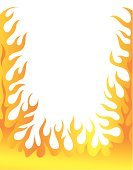 Flame,Fire - Natural Phenomenon,Frame,Vector,Cartoon,Label,Ilustration,Computer Graphic,White Background,Yellow,Red,Color Image,Orange Color,Nature,Illustrations And Vector Art,Blank