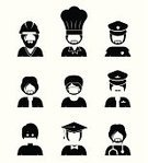 People,Symbol,Profile View,Occupation,Illustration,Group Of Objects,Organized Group,Vector,Avatar