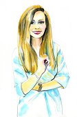 Watercolor Painting,People,Fashion Model,Beautiful Woman,Standing,Adults Only,Human Body Part,Vertical,Women,fashion illustration,Model,Photography,Adult,Human Face,Only Women,Illustration,Females,Paint,Beauty,One Woman Only,One Person,Sketch,Business,Beautiful People,Fashion Girl