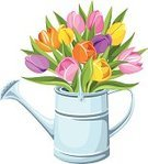 Flower,Vase,Watering Can,Bouquet,Ilustration,Tulip,Metal,Orange Color,Nature,Home Interior,Rustic,Domestic Life,Isolated,Vector,Multi Colored,Blossom,agronomy,Container,Green Color,Yellow,Tin,Still Life,Leaf,Rural Scene,Water,Equipment,Plant,Can,Vibrant Color,Summer,White,White Background,Agriculture,Metallic,Single Object,Springtime,Purple,Gardening