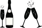 Champagne,Celebratory Toast,Silhouette,Bubble,Single Object,Bottle,Vector,Wine Bottle,Wine,Luxury,Cocktail,Abstract,Celebration,Glass - Material,Isolated,Crockery,Symbol,Alcohol,Computer Icon,Holiday,Black Color,Sign,Ilustration,Two Objects,Alcohol,Glass,Winery,Drop,Drinking