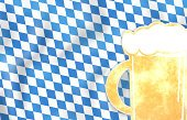 Backgrounds,Glass - Material,Blue,Gold Colored,Beer - Alcohol,Traditional Festival,Flag,Bavaria