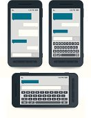 Computer Keyboard,Mobile Phone,Text Messaging,qwerty,templates,Icon Set,Vector,Touch Screen,Address Book,Isolated,Communication,Discussion,Message,Telephone