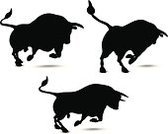 Bull - Animal,Outline,Silhouette,Vector,Back Lit,Animal,Black Color,Isolated On White,Digitally Generated Image,Design Element,Digital Composite,Domestic Animals,Animal Themes,No People,Animals And Pets,Isolated,Design,Clip Art,Ilustration