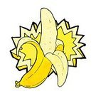 Bizarre,Doodle,Clip Art,Exploding,Symbol,Sign,Cheerful,Drawing - Activity,Food,Fruit,Peeled,Cute,Ilustration,Banana