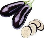 Ilustration,Eggplant,Isolated,Design Element,Exoticism,Abstract,Food,Cooking,Set,Vector,Vegetable,Symbol