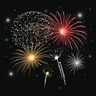 New Year's Eve,Rocket,Japanese New Year,New Year's Day,Chinese New Year,Firework Display,Backgrounds,Celebration,Multi Colored,Lighting Equipment,Night,Fame