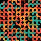 Geometric Shape,Backgrounds,Pattern,Abstract,Wallpaper Pattern,Shape,Flat,Curve,Decoration,Circle,Computer Graphic,Dark,Black Background,Flat Design,Square,Color Image,Turquoise,Red,Retro Revival,Vector,Right Angle,Heat - Temperature,Old-fashioned,Orange Color,Spotted,Design,Ilustration,No People,Digitally Generated Image,Clip Art,Simplicity