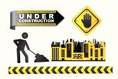 Digging,Construction Worker,Construction Industry,Building Exterior,Below,Road Sign,Built Structure,Urban Scene,Danger,Symbol,Concepts,Silhouette,Safety,Residential District,Vector,Construction Barrier,Ideas,Warning Sign,Repairing,Machinery,Label,Security System,Security,Ilustration,Design,Industry