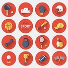 Golf,Flat,Tennis,Baseballs,Boxing,Symbol,Computer Icon,Icon Set,Sport,Focus on Shadow,Basketball,Ball,Healthy Lifestyle,Target,Ilustration,Isolated,Volleyball,Sign,Pool Game,Multi Colored,Flat Design,Internet,Sport Cup,Vector,Set,American Football - Sport