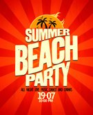 Beach Party,Flyer,1950s Style,Popular Music Concert,Grunge,1960s Style,1970s Style,Beach,Major Ocean,1940s Style,Summer,Nightclub,Music Style,Rock and Roll,Lifestyles,Sunset,Red,Nightlife,Ilustration,Calligraphy,Electro Pop,Disco,Red Background,Summer Solstice,Arranging,Coconut Palm Tree,Placard,Sea,Alternative Lifestyle,Postmodern,Modern Dancing,Clubbing,Entertainment Event,Banner,Night,Style,Annual Event,Entertainment,Event,Fun,1980s Style