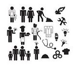 Group Of People,Icon Set,Vector,Symbol,Chef,Togetherness,Doctor,People,Safety,Love,Family,Concepts,Protection,Sign,Ilustration,Parent,Cooperation,Men,Strategy