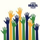 Brazil,Election,Symbol,Crowd,Colors,Color Image,Fan,Brazilian Culture,Backgrounds,Human Hand,Assistance,People,Brazilian,Voting,Celebration,Party - Social Event,Football,Bright,Reaching,Drawing - Art Product,A Helping Hand,Vector,Soccer,Moving Up,Blue,Group of Objects,High Angle View,Human Arm,Charity and Relief Work,Abstract,Service,Multi Colored,Ilustration,Silhouette,Vibrant Color,Human Finger,Green Color,Large Group Of People,Wave,Flag,Soccer Ball,Fun,Male,Yellow