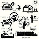 House,Computer Icon,Symbol,Electric Car,Solar Panel,Futuristic,Bullet Train,Train,Stick Figure,Charging,Car,Runaway Vehicle,Modern,Technology,New,Progress,Sun,Solar Power Station,3D Printing,Communication,High Up,Land Vehicle,Recycling,Silhouette,Men,Speed,Cartoon,People,Connection,Energy,Transportation,Computer Network,Printing Out,One Person,Internet,The Human Body,Fuel and Power Generation,Battery,Environment,Vector,Isolated,Concepts,Eyeglasses,Electricity,Power,Eyewear,Efficiency,Pollution,Engine
