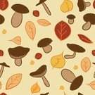 Computer Graphic,Forest,Pattern,Abstract,Ilustration,Backgrounds,Nature,Vector,Leaf,Tree,Cute,Autumn,Yellow,Red