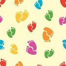Baby,Human Foot,Backgrounds,Child,Vector,Set,Red,Seamless,Yellow,Wallpaper Pattern,Pattern,Wallpaper,Sole Of Shoe,Decoration,Color Image,Blue,Symbol,Multi Colored,Decor,Green Color,Design,Paper