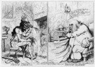 French Revolution,French Culture,People,Arts And Entertainment,Visual Art,War & Conflict,Concepts And Ideas,Time,-,Male,British Culture,Black And White,Horizontal,antithesis