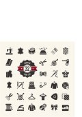 Symbol,Computer Icon,Tailor,Sewing,Thread,Textile,Rolled Up,Fashion,Wool,Clothing,Sewing Machine,Dress,Craft,Coathanger,Mannequin,Iron - Appliance,Zip,Leather,Sewing Needle,Straight Pin,Vector,Silhouette,Scissors,Spiral,Button,Spool,Jacket,Internet,Isolated,Collection,Needlecraft Product,Thimble,Model Kit,Pattern,Curve,Chalk - Art Equipment,Set,Facial Tissue,Hook