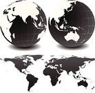 Globe - Man Made Object,Map,Australia,World Map,Earth,Asia,Pacific Ocean,Planet - Space,Cartography,Vector,Europe,USA,Africa,Canada,continents,Computer Graphic,North America,Ilustration,Sea,Water,The Americas,Clip Art,Travel Locations,Physical Geography,South America,Illustrations And Vector Art,Land,Atlantic Ocean,countries,Isolated On White