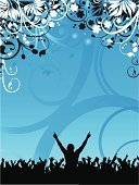 People,Nature,Dancing,Crowd,Yoga,Party - Social Event,Disco Dancing,Flower,Leaf,Silhouette,Teenager,Adult,Abstract,Nightclub,Illustration,Group Of People,Men,Teenage Boys,Women,Vector,Unrecognizable Person,Funky,Adolescence,Grunge,Illustrations And Vector Art