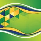 Vector,Abstract,Backgrounds,Brazil,Green Color,Flag,Design,Computer Graphic,Ilustration,Pattern