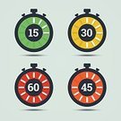 Minute Hand,Number 30,Second Hand,Stopwatch,Computer Icon,Number 60,Symbol,Number 15,Clock,Time,Flat,Number 45,Timer,Countdown,Watch,Watching,Vector,Sign,Isolated,Instrument of Time,Yellow,Speed,Green Color,Clock Face,Red,Orange Color,Ilustration,Glass - Material,Backgrounds