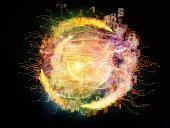 Light Trail,Backgrounds,Concepts,Swirl,Information Cloud