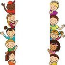 Preschool,Child,Multi-Ethnic Group,Animated Cartoon,Backgrounds,Cartoon,Fun,Label,Cute,School Building,Education,Birthday,Smiling,Design,Creativity,Happiness,Fantasy,Vector,Leisure Games,Friendship,Innocence,Love,Ilustration,Childhood,Learning,Color Image,Sheet,Togetherness,Joy