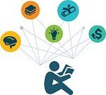 Wages,University,Student,Diagram,Diploma,Ilustration,Studying,Reading,Book,Vector,Symbol,Education,Adult Student,Learning,Occupation,Icon Set,Computer Icon,Human Brain