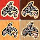 Killer Whale,Haida,Whale,Inuit,Indigenous Culture,Art,Animal,Textured,American Tribal Culture,Vector,Religious Icon,Painted Image,Maple,Wood - Material,Style,Drawing - Art Product,Black Color,Textured Effect,sea mammal,Cultures,Animals In The Wild,Violence,Ilustration,Cruel,Haida Art,Haida Style,Dorsal Fin,Nature Symbols/Metaphors,Carnivore,Arts Symbols,Creativity,Brown,Sea Wolf,Nature,Animal Fin,Red,Aquatic Mammal,Mammal,Aquatic,Animal Teeth,Arts And Entertainment