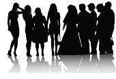 People,Friendship,Crowd,Wedding,Silhouette,Child,Adult,Young Adult,Illustration,Group Of People,Males,Men,Boys,Females,Women,Vector