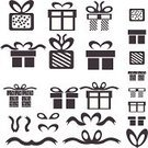 Vector,Box - Container,Wrapping Paper,Ribbon,Bow,Computer Icon,Gift,Giving,Symbol,Holiday,giftware,Package,Single Object,Christmas,Anniversary,Birthday