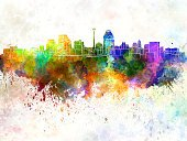 San Antonio,Texas,Watercolor Painting,Urban Skyline,Panoramic,Abstract,Creativity,Grunge,USA,North America,Architecture,Famous Place,Monument,Color Image,Cityscape,Ilustration,Vibrant Color,Splattered,Textured Effect,Painted Image,Multi Colored,Spray