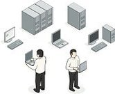 Network Server,Isometric,Computer,Symbol,Computer Icon,Office Interior,Men,Laptop,Icon Set,PC,Tower,Diagram,Occupation,Vector,Ilustration,Computer Monitor,Sparse,Computer Graphic,Solution,Simplicity,Digitally Generated Image,Business,Computer Keyboard,Male,Technology,Design,Working,Design Element,White Background,Part Of,Working At Home,Color Image,Colors