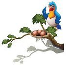 Nature,Wealth,Forest,Tropical Rainforest,Blue,Protection,Animal Nest,Leaf,Vector,Stem,Tree,Twig,Lifestyles,Animal,Grass,Computer Graphic,Rectangle,Branch,Brown,Image,Backgrounds,Bird,Pets,Parrot,template,Clip Art,leafy