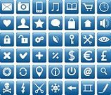 Square Shape,Telephone,Symbol,Computer Icon,Computer,Modern,Simplicity,Ilustration,Technology,Design,Keypad,Blue,Set,Sound,Lens - Optical Instrument,Desk,Mobile Phone,Group of Objects,Computer Mouse,Communication,Currency Symbol,Collection,Shiny,Antenna - Aerial,Lock,Photography,Business,White