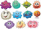 Monster,critter,Animal,vectorized,Backgrounds,Vector,Computer Graphic,Image,Blob,critters,Collection,Clip Art,template,Creativity,Cute,Fun,Smiling,Alien