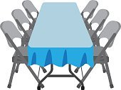 Chair,Dining,Dining Table,Table,Party - Social Event,Furniture,table and chairs,Residential Structure,Folding Chair,Folding Table,Work Table,Vector,Ilustration,Metal,Tablecloth,Decor,Home Interior
