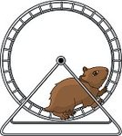 Exercise Wheel,Hamster,Small,Cage,Ilustration,Brown,Cute,Vector,Rodent,Wheel,Running,Pets,Animal,Domestic Animals